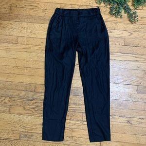 MM6 Madison Margiela 6 black trousers elastic pant
